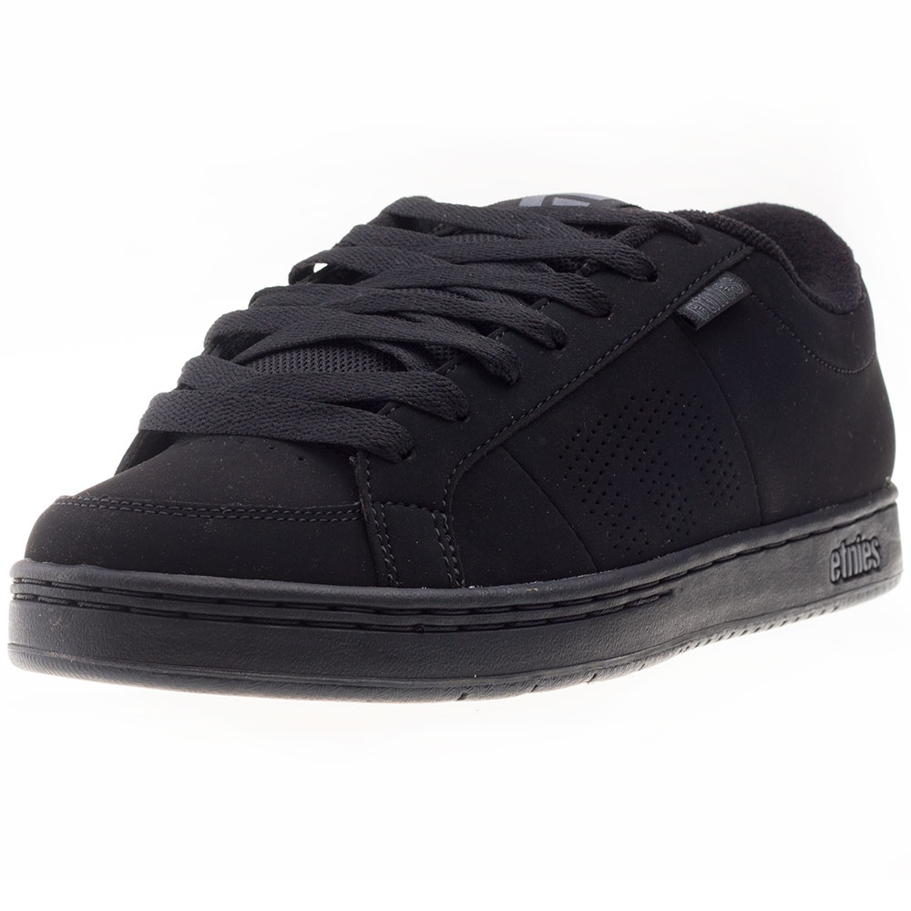 Etnies Kingpin Mens Black Genuine Suede Casual Trainers Lace-up Genuine Black Shoes New Style 02ce7e