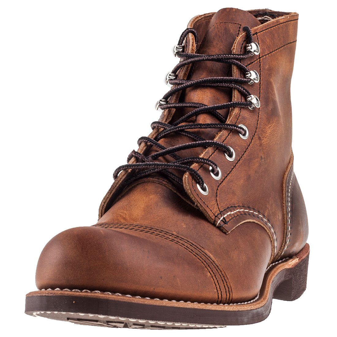 Red Wing Iron Ranger Mens Tan Leather Casual Boots Lace Up Genuine