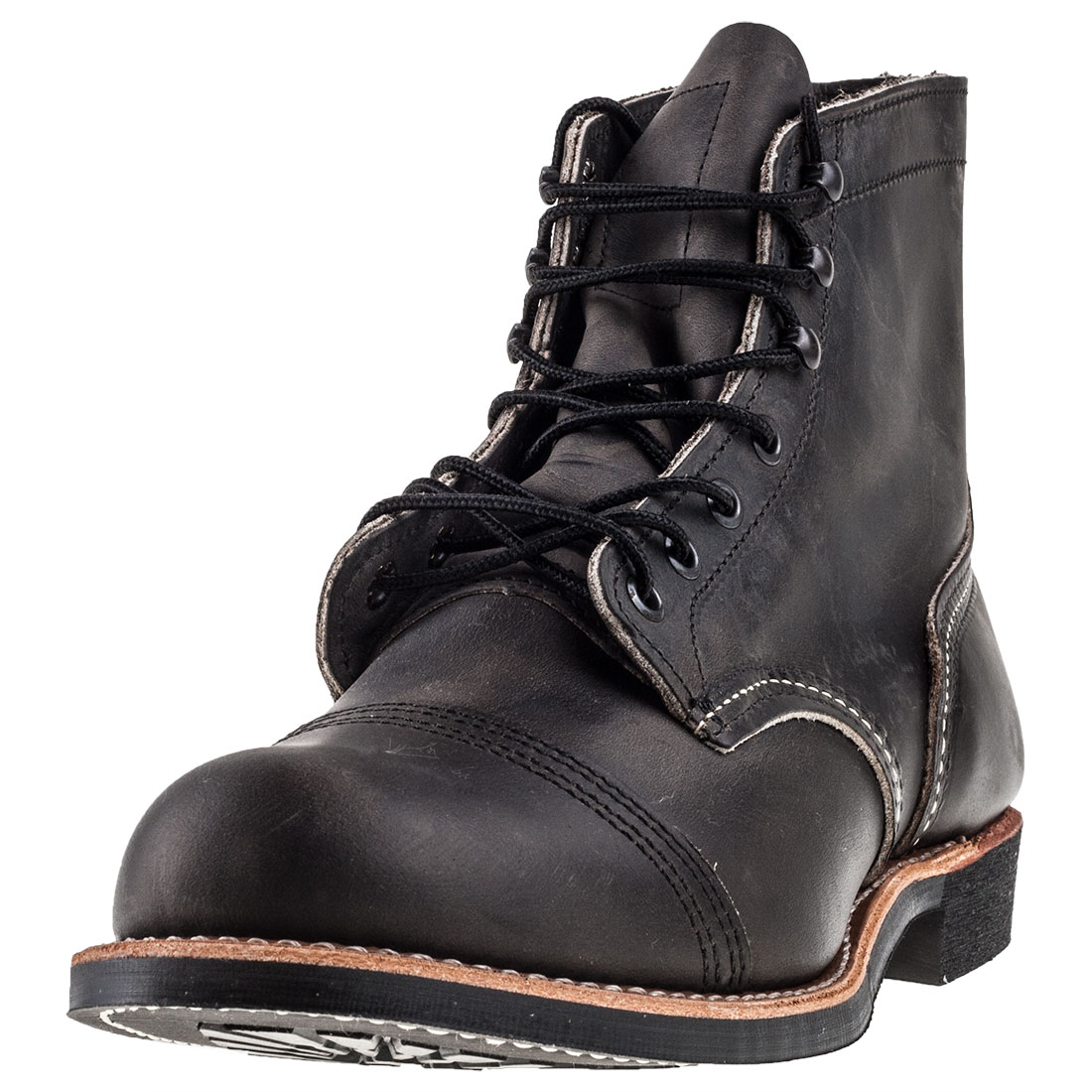 2019 Ultimo Disegno Red Wing Iron Ranger Uomo Charcoal Pelle Stivali Casuale
