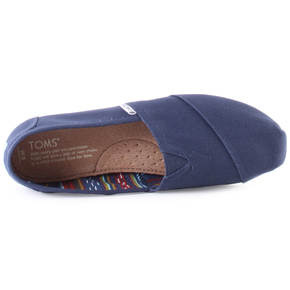 Toms-Classic-Womens-Slip-On-Navy-New-Shoes
